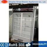 Mostrador de frigorífico com porta comercial de porta dupla