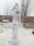Het Hand Gesneden Marmeren Standbeeld van uitstekende kwaliteit van de Vader en van de Zoon van het Beeldhouwwerk (sy-MS129)