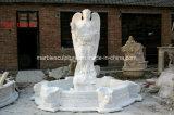 천사 동상 (SY-F129)를 가진 손에 의하여 새겨지는 호화스러운 대리석 샘