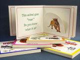 가득 차있는 Colourr 주문 인쇄 아이들 두꺼운 표지의 책 널 책
