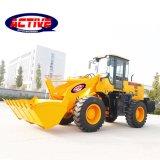 3.5 ton grandes cargadora de ruedas con el precio de fábrica y un buen rendimiento