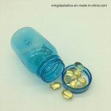 使用正方形ペット補足のびんを包む淡いブルーの160mlヘルスケアの丸薬