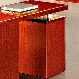 Mobília de escritório certificada Fsc da mesa do gerente da saliência do folheado da cereja