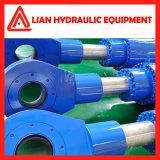 Tipo regulado cilindro hidráulico do atuador com o êmbolo de aço forjado Rod