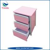 Gabinete médico de madeira do hospital da liga de alumínio da cor
