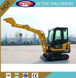 Actif de bonne qualité 2.2Ton Mini-excavatrice chenillée hydraulique fabriqué en Chine