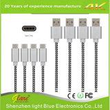 Diseño de nuevos puestos de Double-Pull Ronded Aluminum-Ring 5 cable de datos USB retráctil