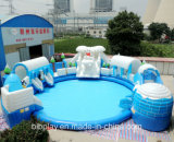 Надувной водный парк с надувной бассейн