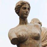 Scultura della statua di marmo della sirena e del Merman T-6897