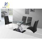 Migliore tavolino da salotto superiore di vetro di vendita della replica con il piedino cromato