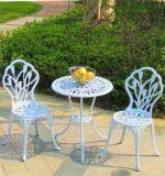 全天候用屋外のテラスの鋳造アルミの庭3部分は家具をセットする