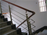 현대 건축재료 착용 관 목제 층계 손잡이지주