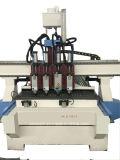 Multi router trattato di CNC della macchina per incidere 1325 con il commutatore pneumatico dello strumento per il portello di falegnameria