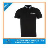 Verano Negro Fit camiseta de golf de la moda para hombres