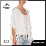 Ladies Fashion Boho Loose White Summer Cardigan
