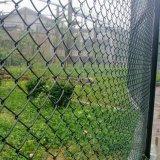 電流を通された鉄の金網のチェーン・リンクの網の塀の金網