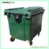 Het grote Deksel die van het Volume de Op zwaar werk berekende Bak van het Afval van 660 L bevinden zich