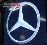 Weißes Acrylauto-Firmenzeichen-Zeichen des kristall-LED helles