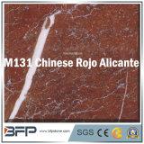 Chinesische Rojo Alicante rote starke Fliese des Marmor-10mm für Hauptdekor, die Wand, DIY ausbreitend installieren