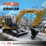 Excavadora de cadenas Everun Brand 6 Ton Er60-8b