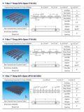 T-Barra 25.4m m el profundamente 35% o el 50%, reja de Pultruded Pedestring de la fibra de vidrio 60%Open, reja de la extrusión por estirado de la fibra de vidrio