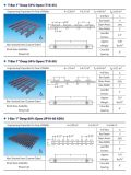 T棒25.4mm深く35%または50%の60%Openガラス繊維のPultruded Pedestringの格子、ガラス繊維のPultrusionの格子