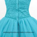 Neuer Ankunfts-Schatz besetzte Abschlussball-Kleid-Hochzeits-Kleid mit Rüschen