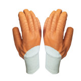 Palm 3/4 van de Weerstand van de schuring de Met een laag bedekte Golf van de Handschoenen van het Latex eindigt