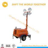 torretta chiara mobile Halide del metallo 4X1000W con il generatore del diesel 5kVA