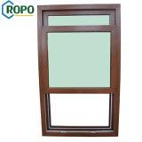 Finestra di vetratura doppia del PVC, finestra di legno del blocco per grafici