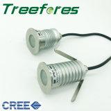 3W 12V CREE COB conduit souterrain de la lumière de la lampe du paysage en plein air IP67