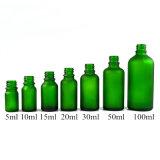5 ml 10ml 15ml 20ml 30ml 50ml 100ml en verre dépoli flacon compte-gouttes en verre vert bouteille d'huile essentielle