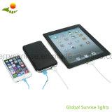 Painel solar impermeável portátil USB bateria carregador solar para celular Clip-on Power Bank