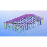 Здание Hall хоккея стальной рамки Колумбии с повиснутым мезонином