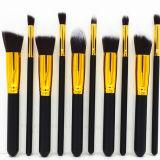10pcs Maquillaje Pincel cosméticos con logotipo están ajustadas (HERRAMIENTA-90)