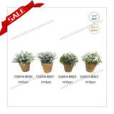 Заводов дома декора таблицы H10-18cm цветок пластичных домашних декоративных искусственний