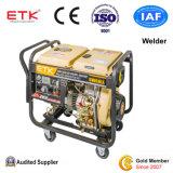 5 квт одного цилиндра с воздушным охлаждением портативный аварийного дизельного генератора сварочного аппарата