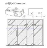Abrazadera de cristal de la puerta de la aleación del acero inoxidable 304/aluminio de Dimon, corrección que ajusta el vidrio de 8-12m m, guarnición de la corrección para la puerta de cristal (DM-MJ 53S)