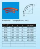 オーストラリアの(AS/NZS2053)標準オレンジ90degreeの電気くねりの一致(頑丈な)
