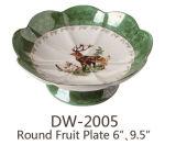 Dw-2005 Porcelaine Assiette de fruits 6'' 10''
