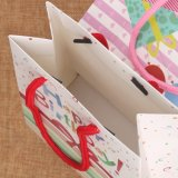 Zakken de van uitstekende kwaliteit van de Gift van de Verjaardag met Zak van de Gift van het Document van de Kunst van het Document van het Handvat van het Lint de Glanzende