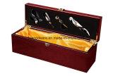 Palissandre finition piano/Présentation des emballages de vin en bois boîte cadeau avec des outils