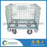 Cage galvanisée de treillis métallique avec la roue