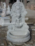 Carved di pietra Wall Fountain con Lion Head