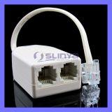 2wire nos filtros DSL para ADSL com conexões duplas para telefone e modem