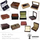 Caja de reloj de madera personalizado Hongdao con separadores para mostrar mayor _E