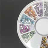 12 OEM en ODM van de Decoratie van de Spijker van het Kristal DIY van de Daling van de kleur