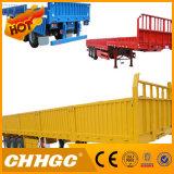 semi-remolque del cargo 3axle/de la cerca con el tipo plano pared lateral