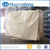 Metal de dobramento que empilha a gaiola do armazenamento para a boa venda