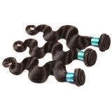 Onda brasileira do corpo do cabelo do Virgin 3 da classe brasileira da onda 7A do corpo do cabelo de Rosa pacotes do Weave brasileiro do cabelo humano do cabelo do Virgin